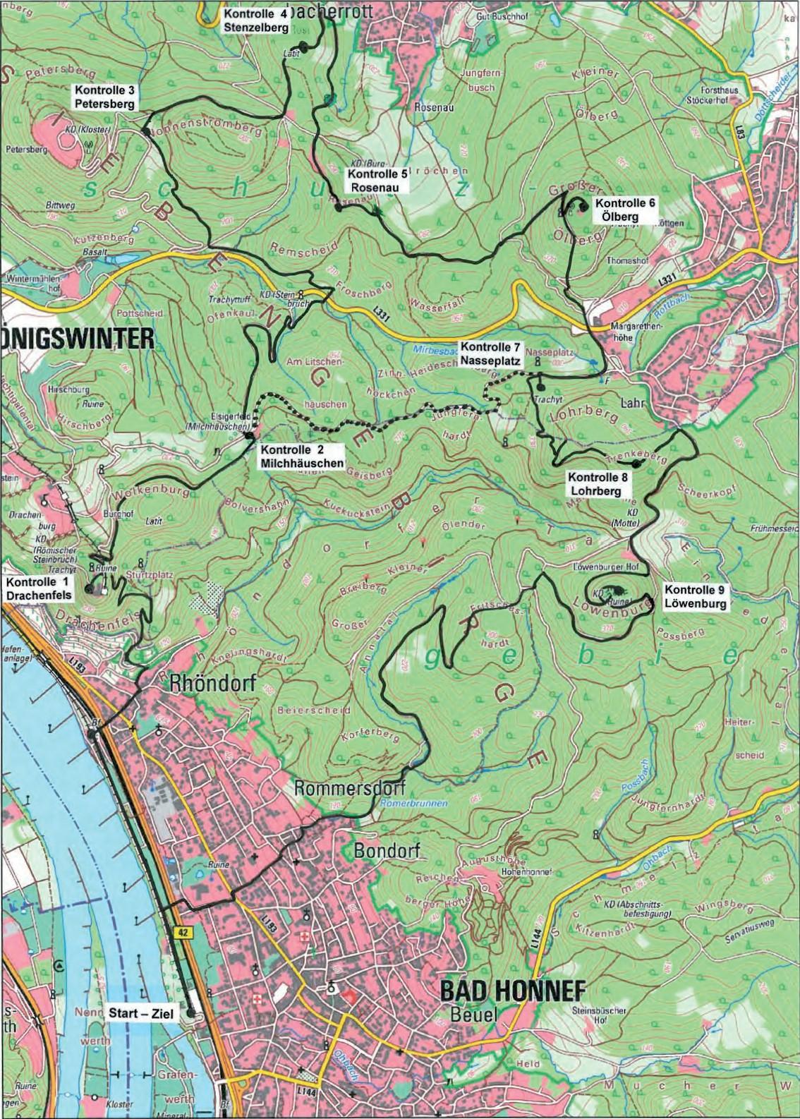 Siebengebirge Wanderwege Wanderfreunde Hainsacker
